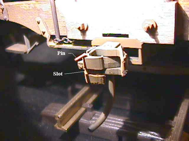 Link And Pin Coupler : Connecting link and pin to kadees mylargescale